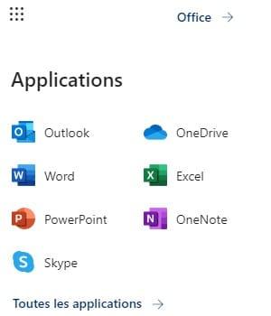Applications Office en ligne
